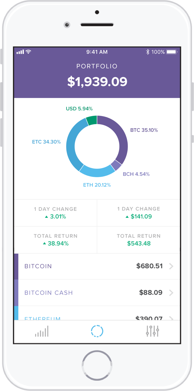 invest application screenshot