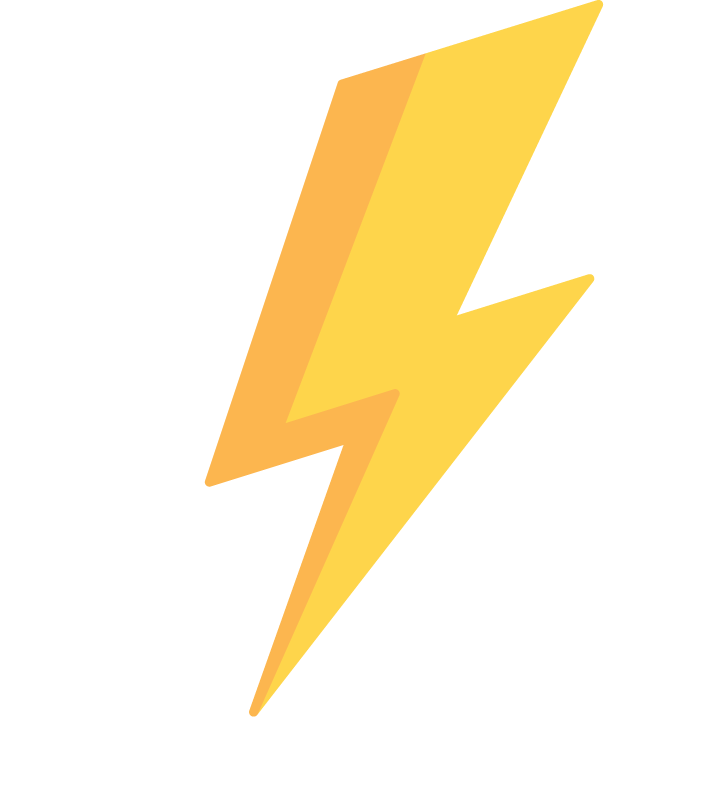 A lightning bolt icon to show instant cash out.